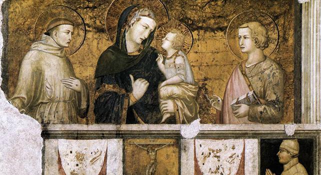 San Francesco e Maria, mendicante insieme Gesù povera come Lui